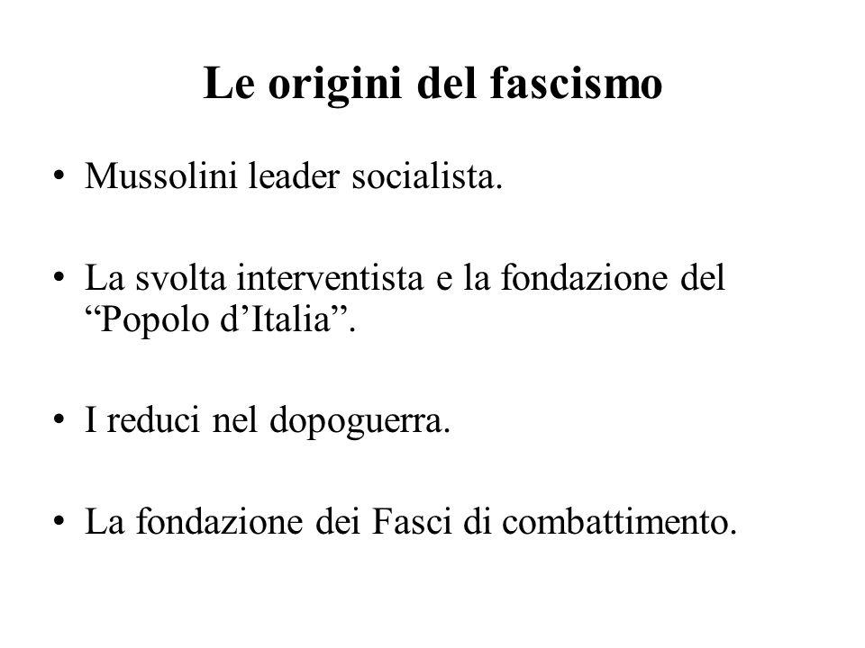Le origini del fascismo