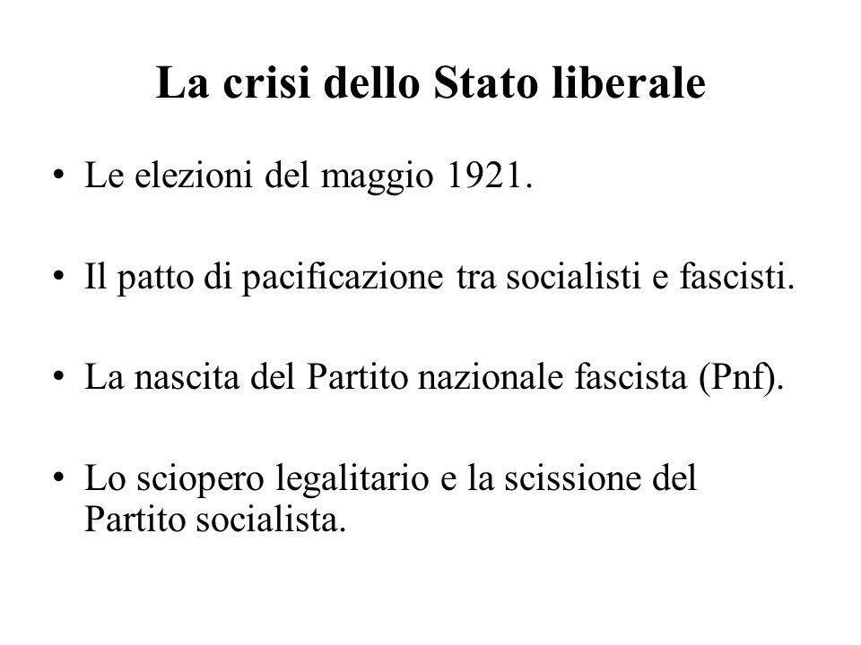 La crisi dello Stato liberale