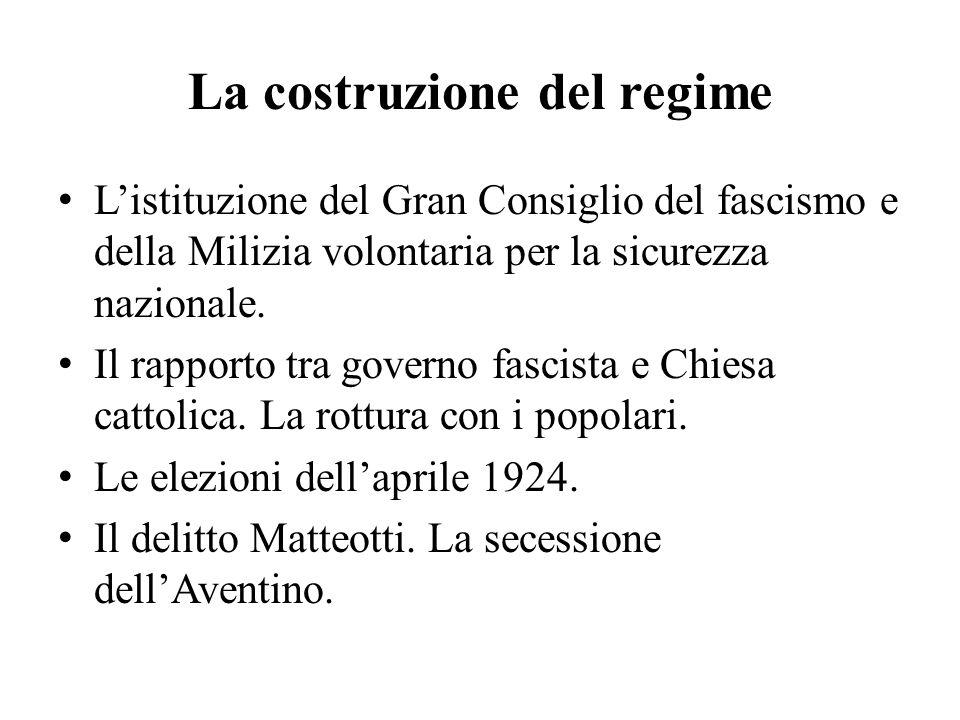 La costruzione del regime