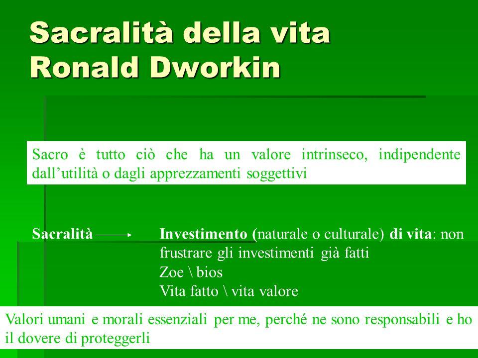 Sacralità della vita Ronald Dworkin