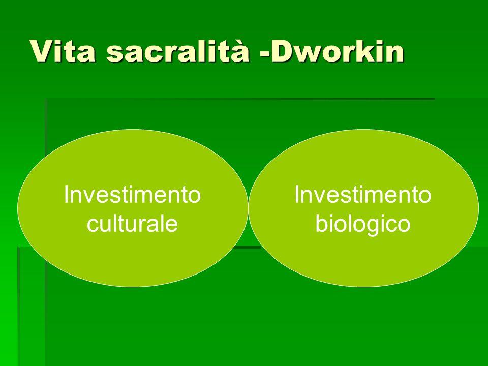 Vita sacralità -Dworkin