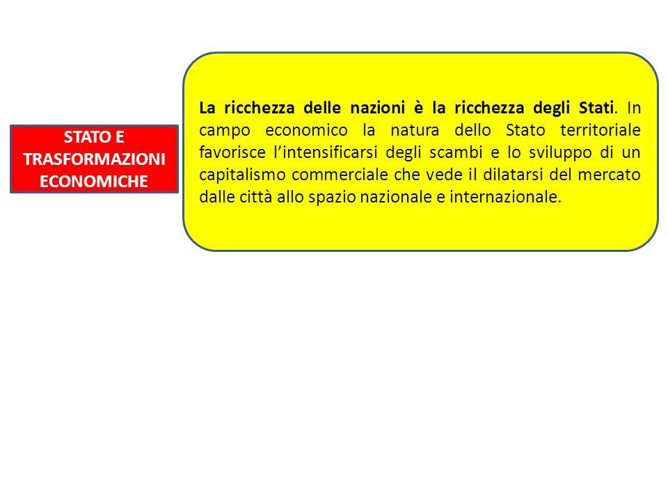 STATO E TRASFORMAZIONI ECONOMICHE