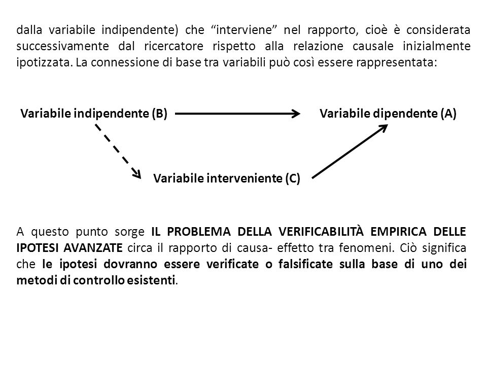 Variabile dipendente (A)