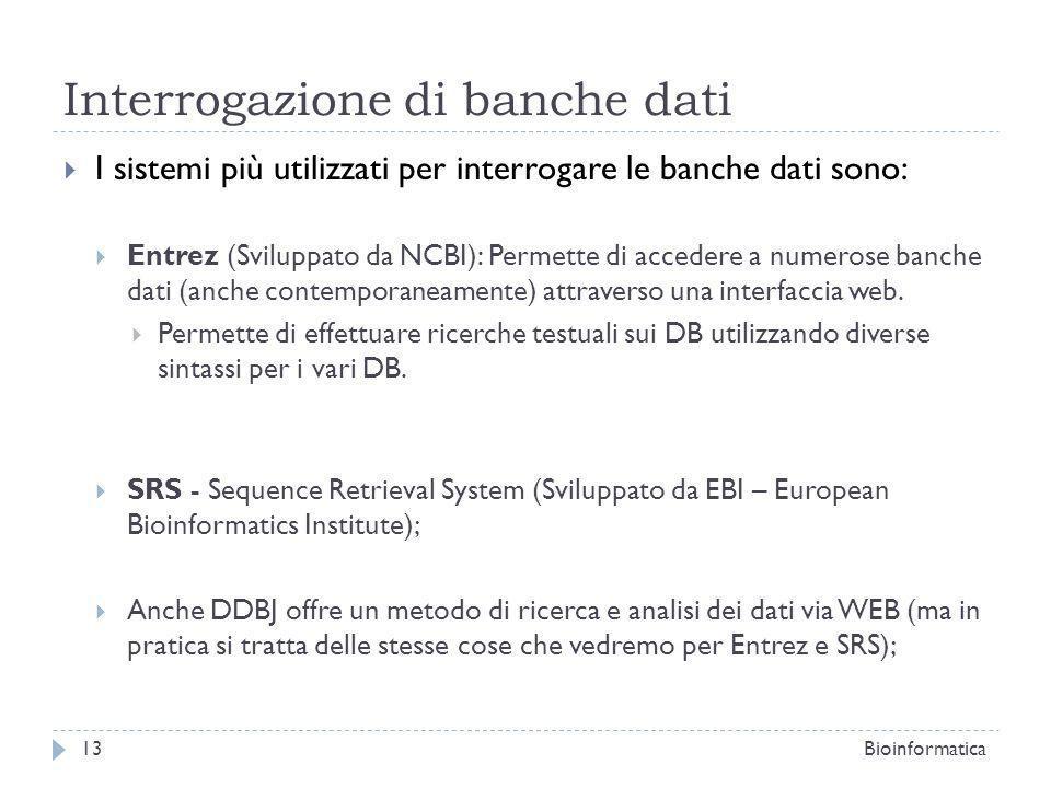 Interrogazione di banche dati
