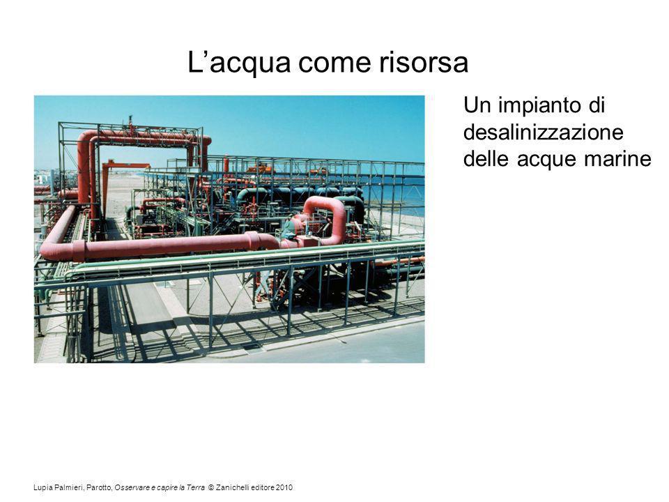 L'acqua come risorsa Un impianto di desalinizzazione delle acque marine.