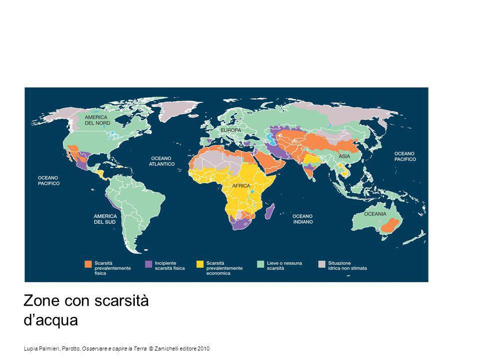 Zone con scarsità d'acqua