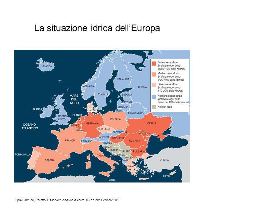La situazione idrica dell'Europa