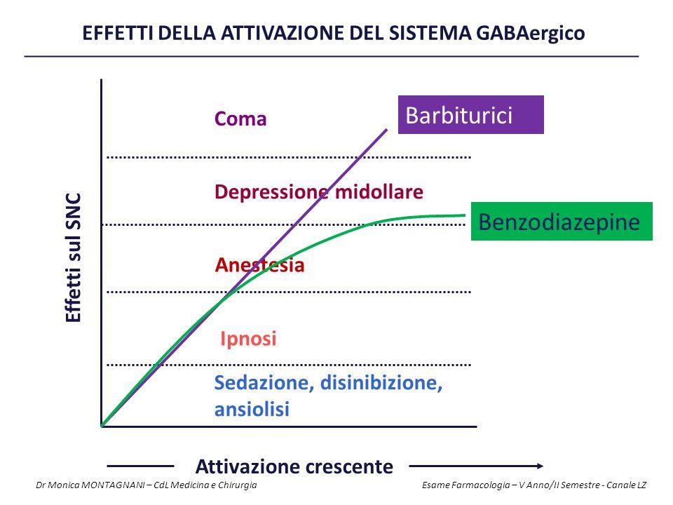 EFFETTI DELLA ATTIVAZIONE DEL SISTEMA GABAergico