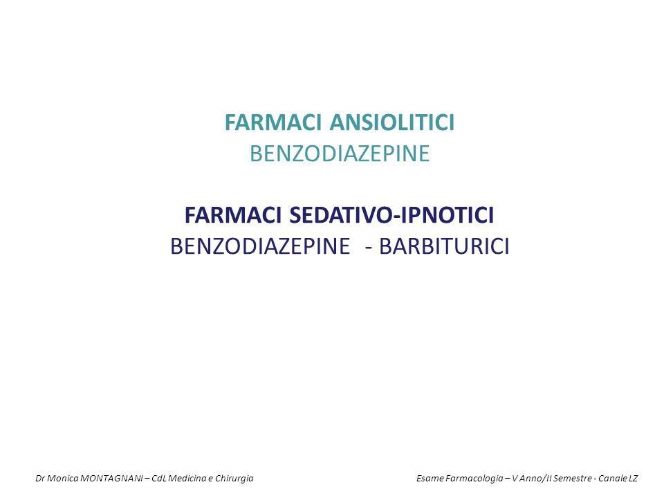 FARMACI SEDATIVO-IPNOTICI