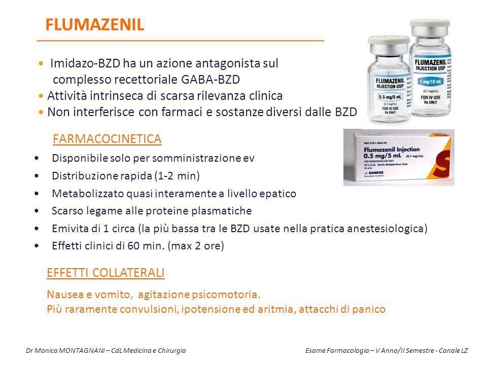 Flumazenil Imidazo-BZD ha un azione antagonista sul