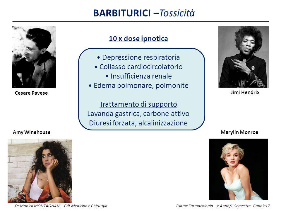 BARBITURICI –Tossicità