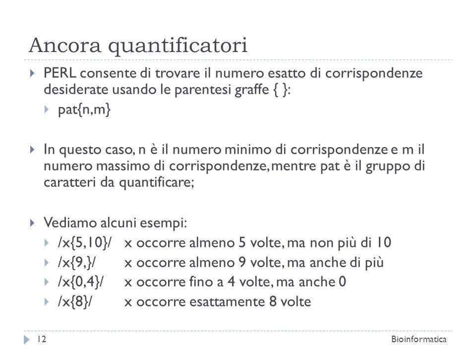 Ancora quantificatori