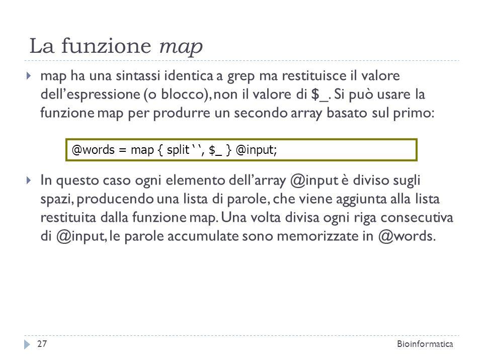 La funzione map