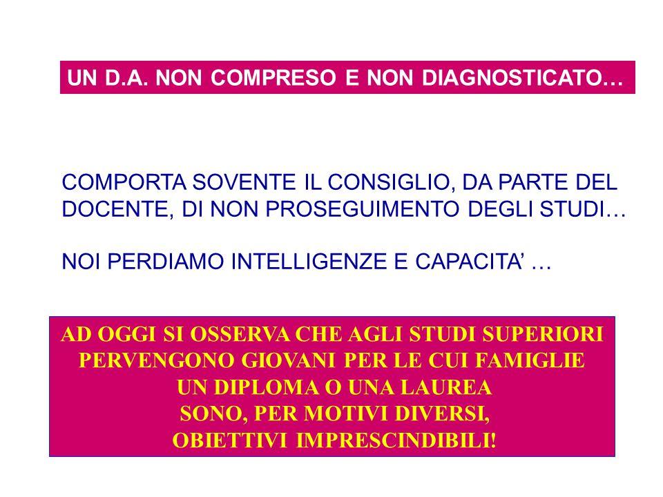 UN D.A. NON COMPRESO E NON DIAGNOSTICATO…