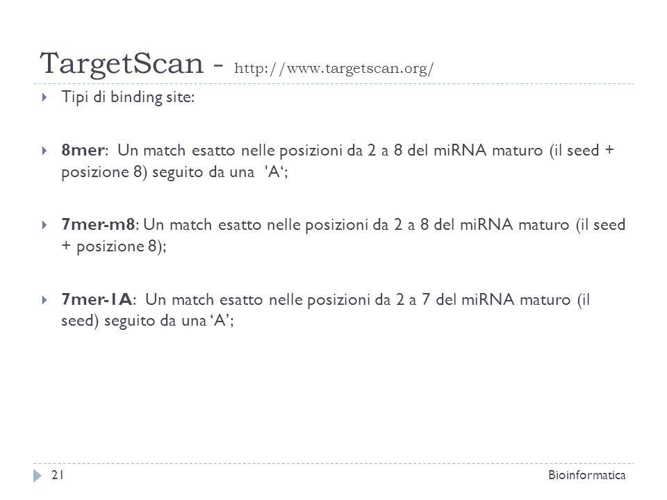 TargetScan - http://www.targetscan.org/