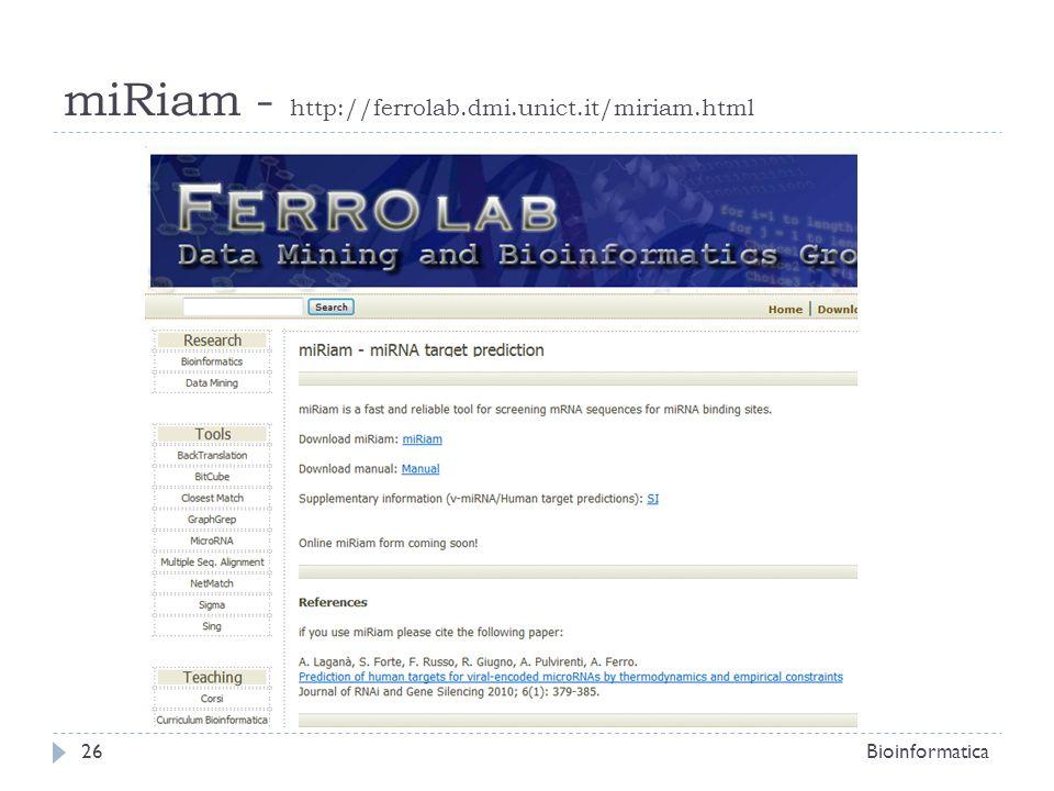 miRiam - http://ferrolab.dmi.unict.it/miriam.html