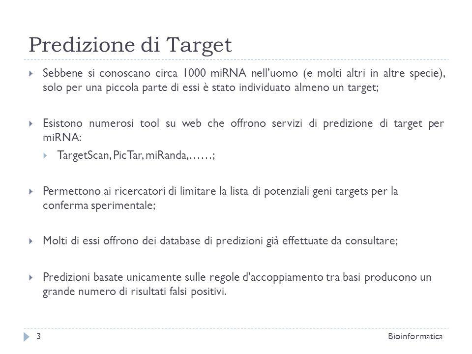Predizione di Target