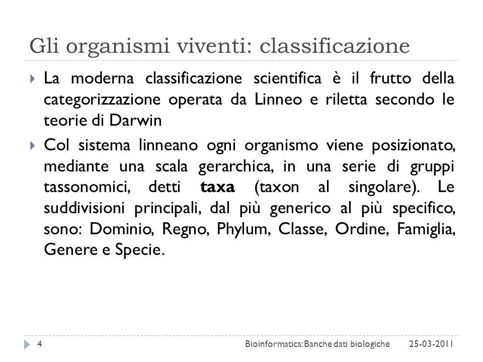 Gli organismi viventi: classificazione