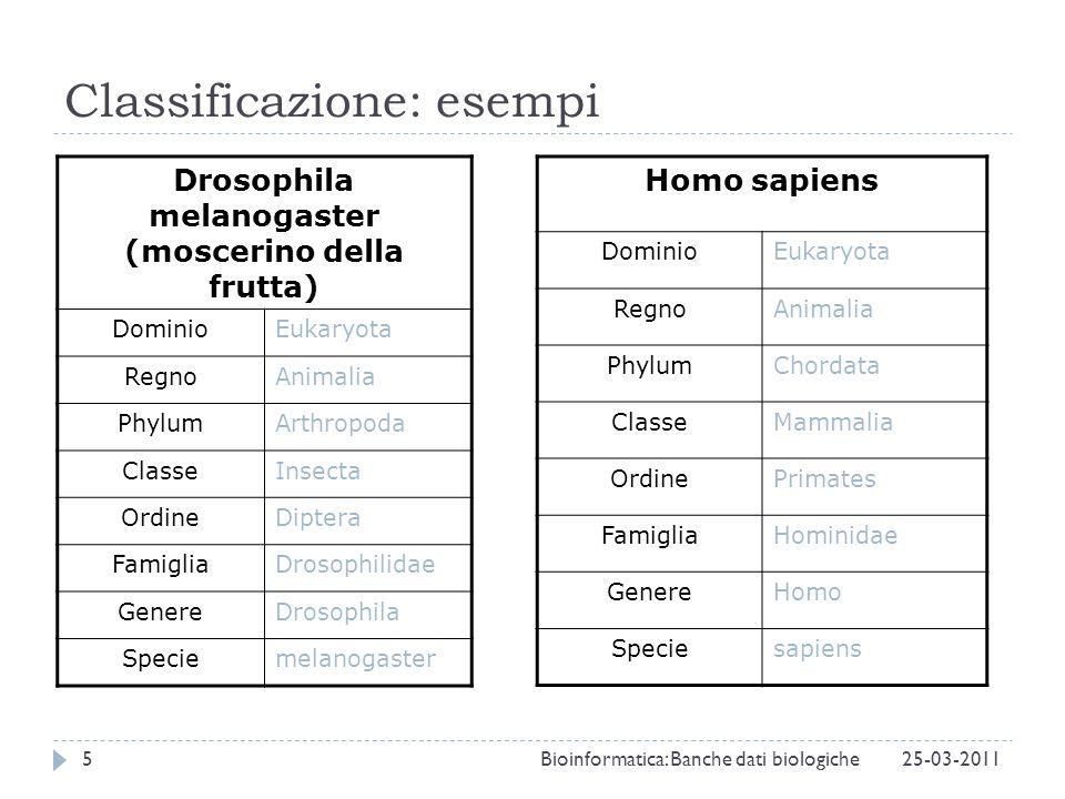 Classificazione: esempi