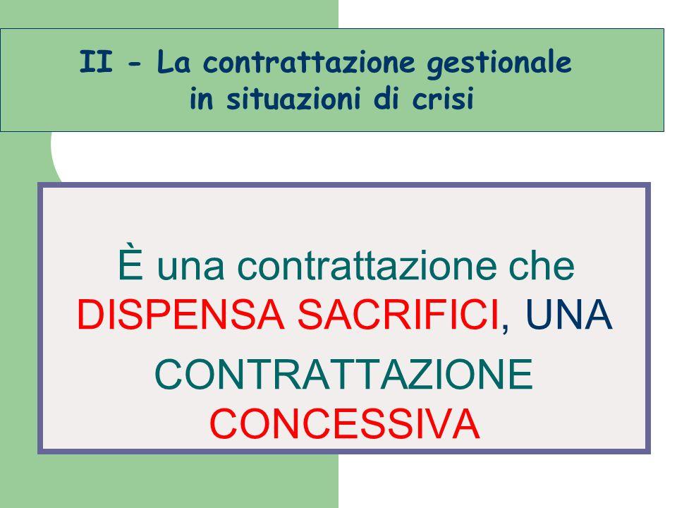 II - La contrattazione gestionale
