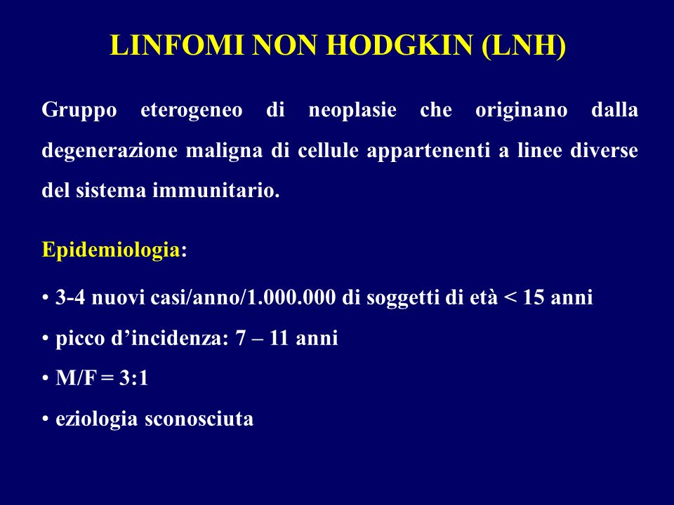 LINFOMI NON HODGKIN (LNH)