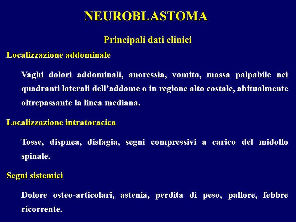 NEUROBLASTOMA Principali dati clinici Localizzazione addominale
