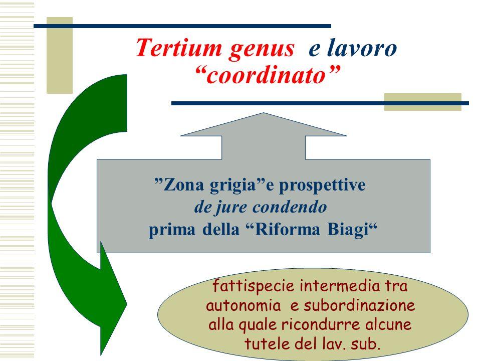 Tertium genus e lavoro coordinato
