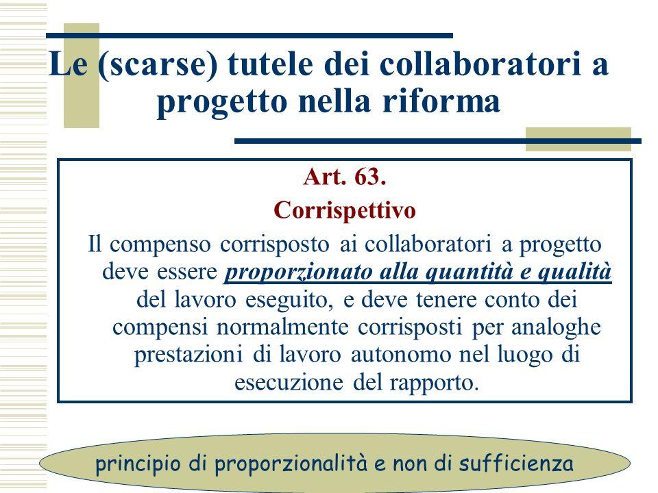 Le (scarse) tutele dei collaboratori a progetto nella riforma