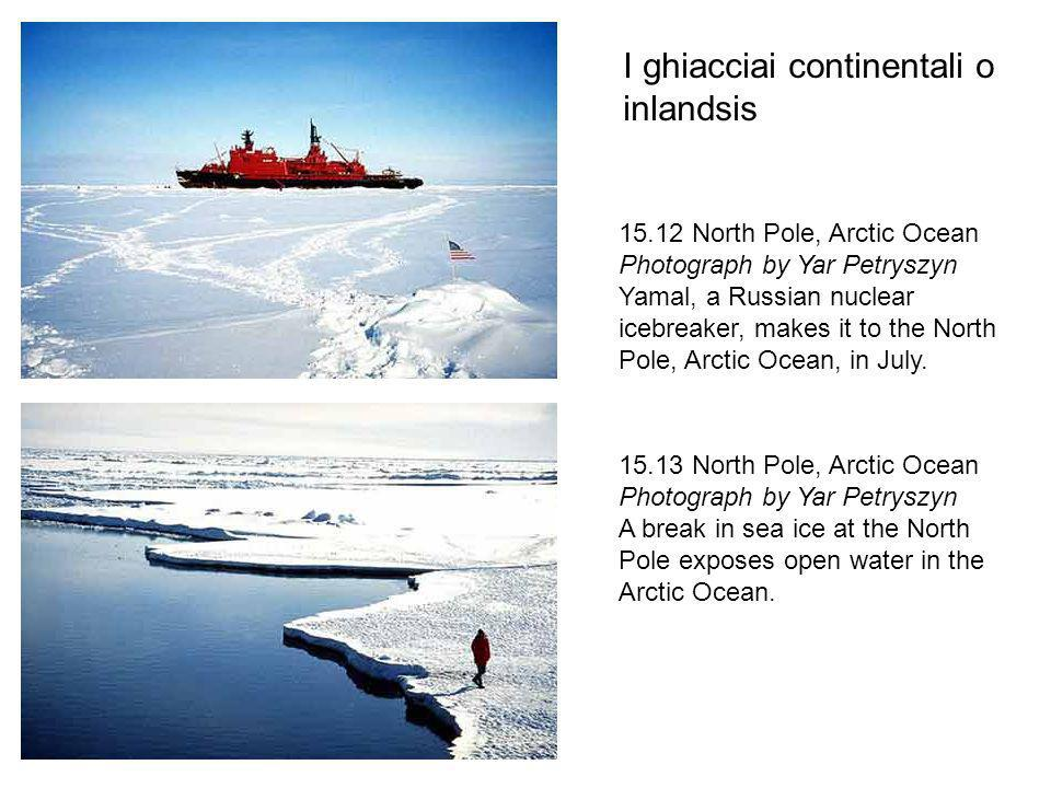I ghiacciai continentali o inlandsis