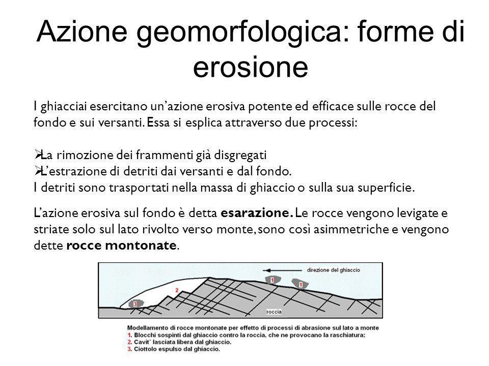 Azione geomorfologica: forme di erosione