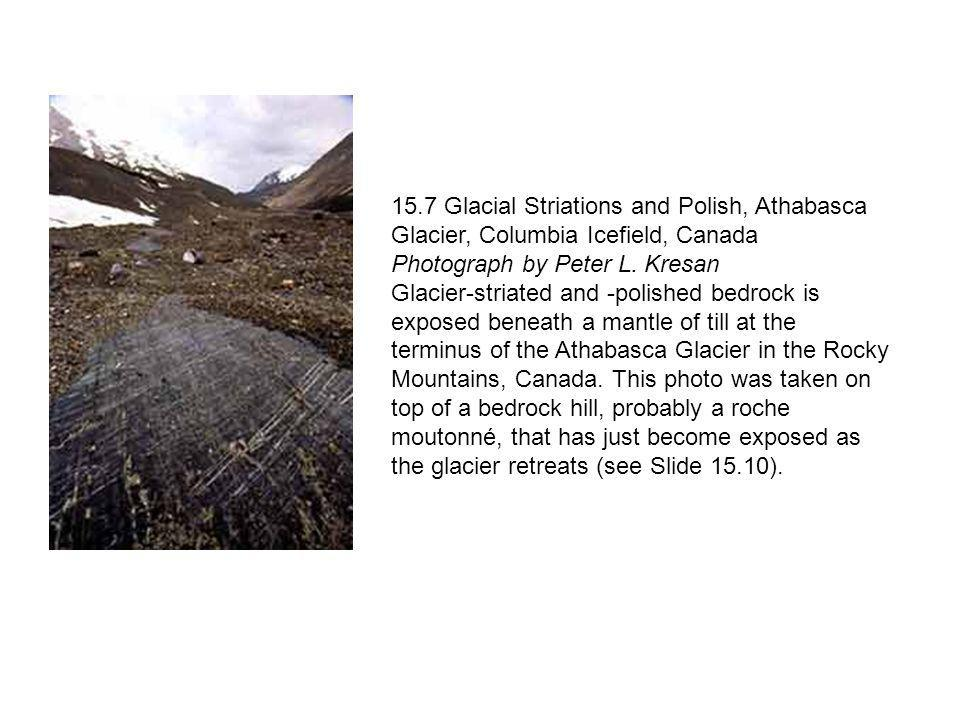 15.7 Glacial Striations and Polish, Athabasca Glacier, Columbia Icefield, Canada Photograph by Peter L. Kresan