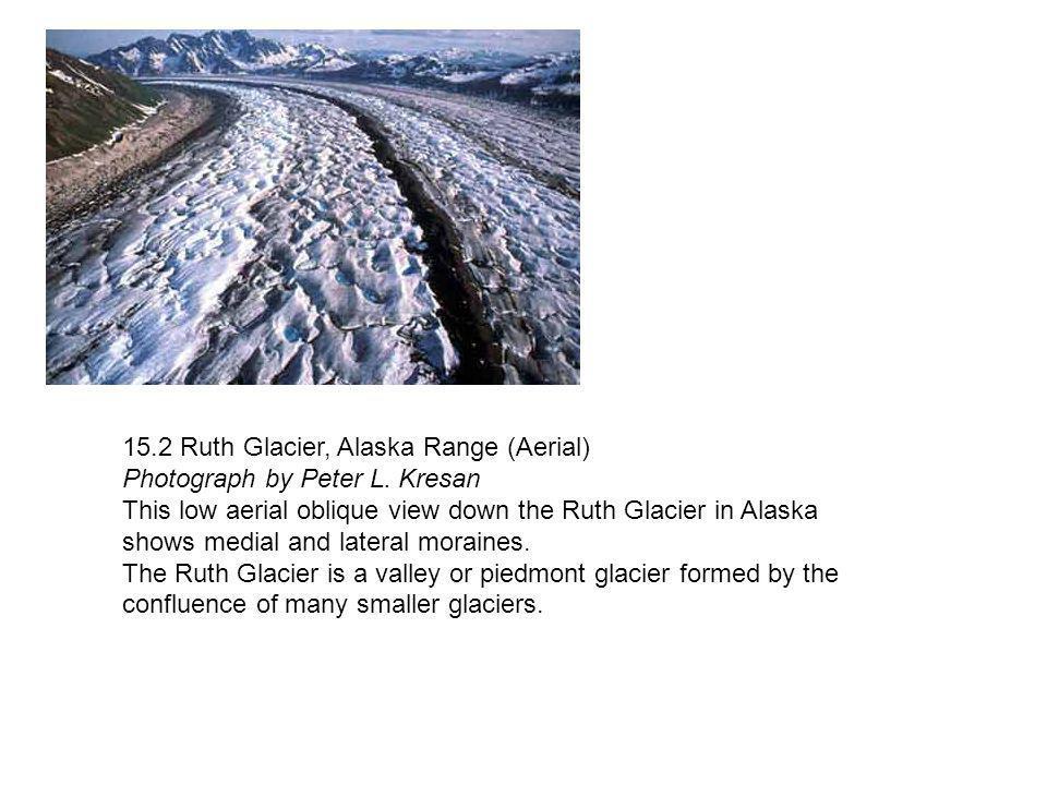 15.2 Ruth Glacier, Alaska Range (Aerial) Photograph by Peter L. Kresan
