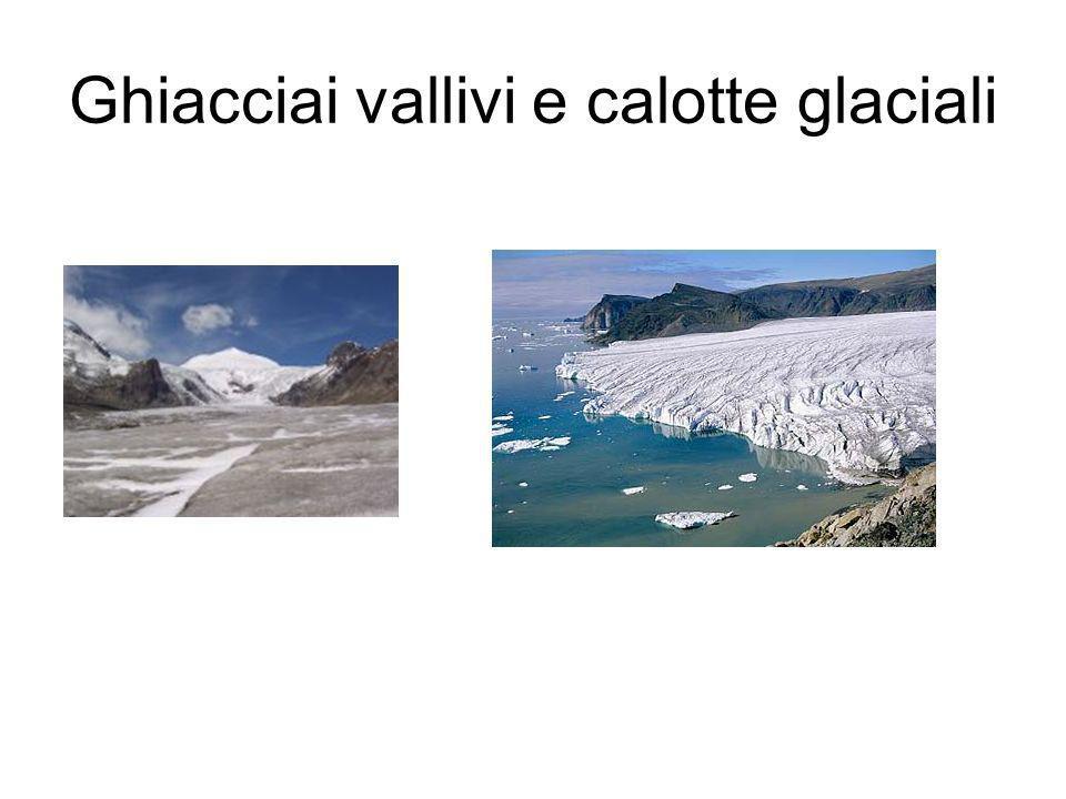Ghiacciai vallivi e calotte glaciali