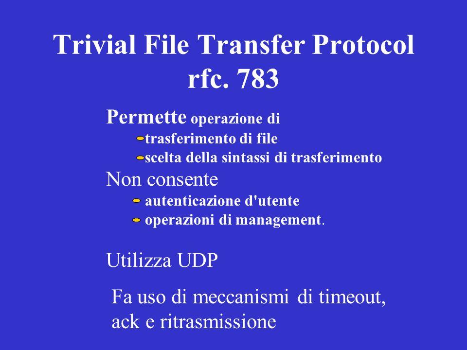 Trivial File Transfer Protocol rfc. 783