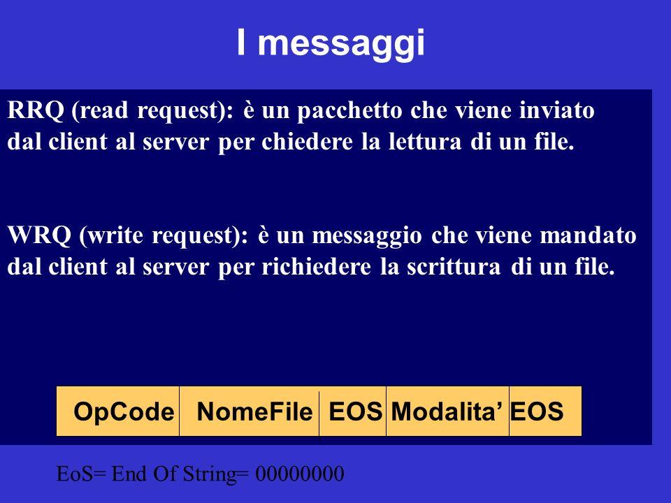 OpCode NomeFile EOS Modalita' EOS