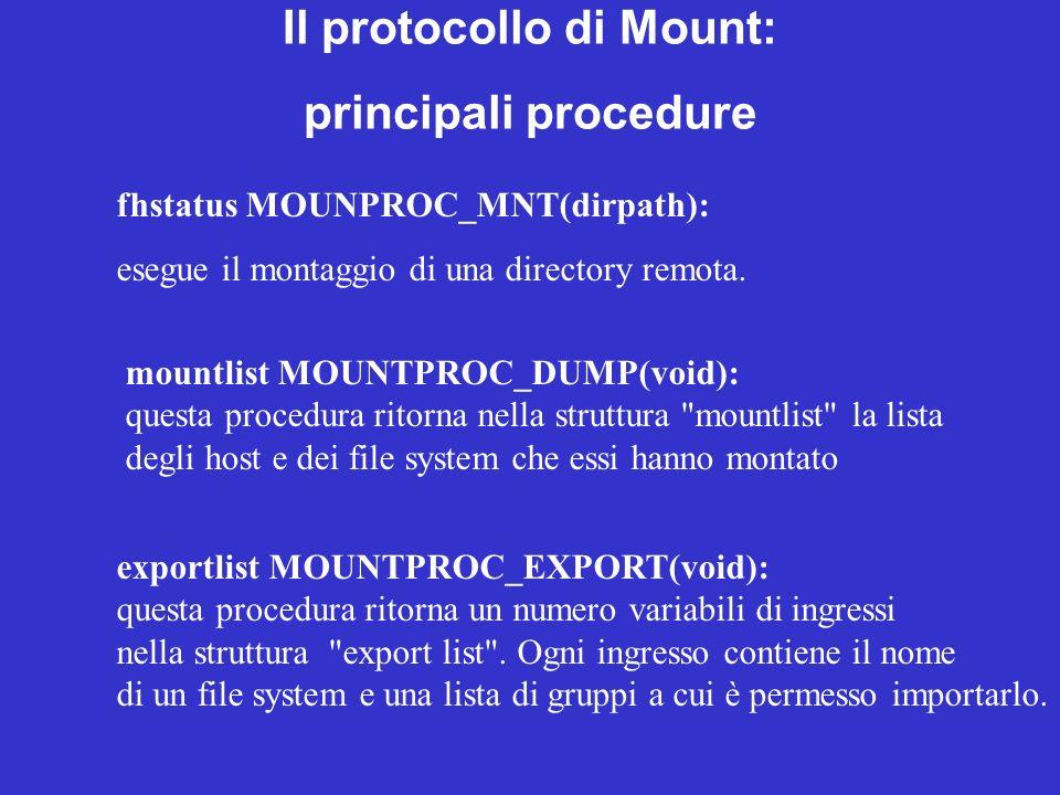 Il protocollo di Mount: