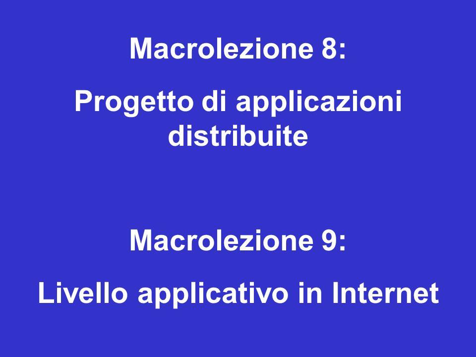 Progetto di applicazioni distribuite Livello applicativo in Internet