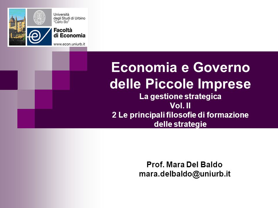 Prof. Mara Del Baldo mara.delbaldo@uniurb.it