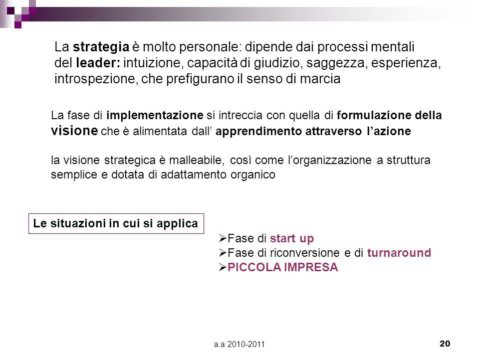 La strategia è molto personale: dipende dai processi mentali