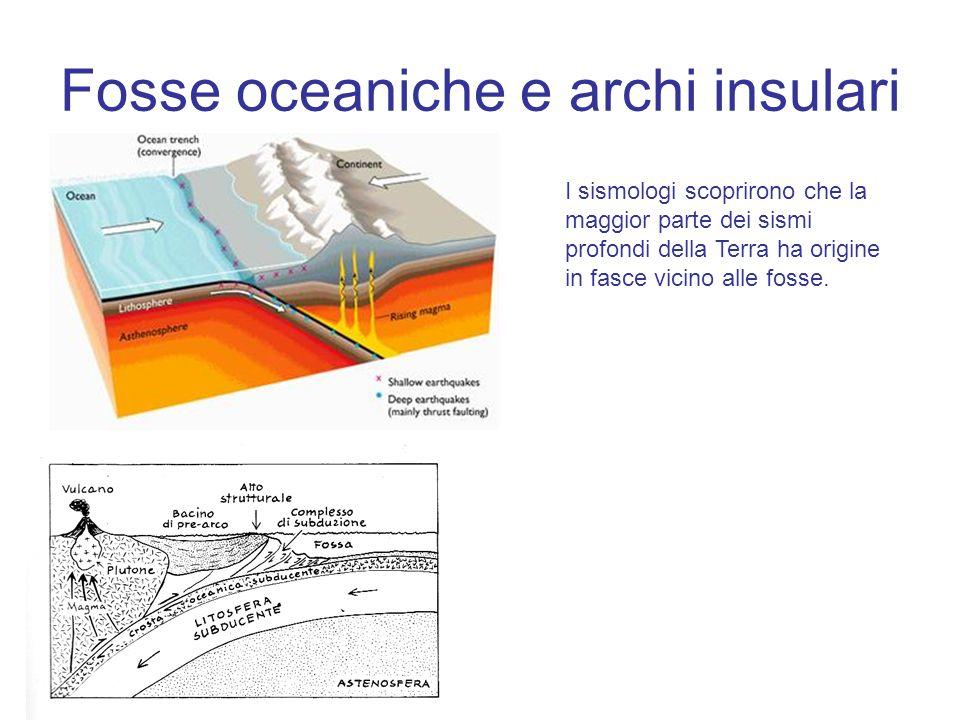 Fosse oceaniche e archi insulari