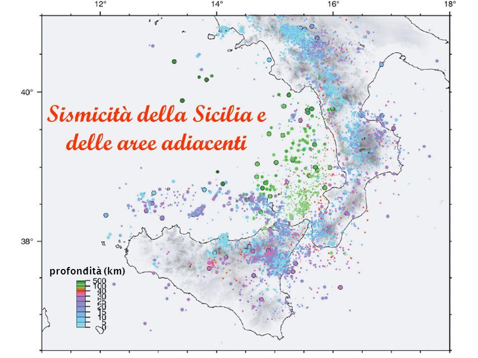 Sismicità della Sicilia e delle aree adiacenti