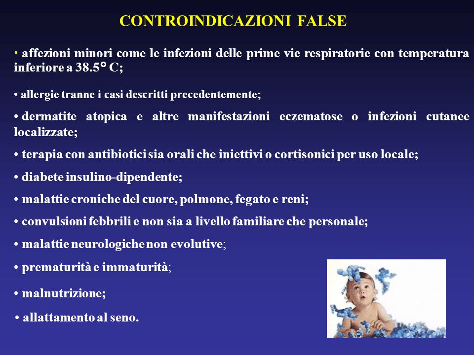 CONTROINDICAZIONI FALSE