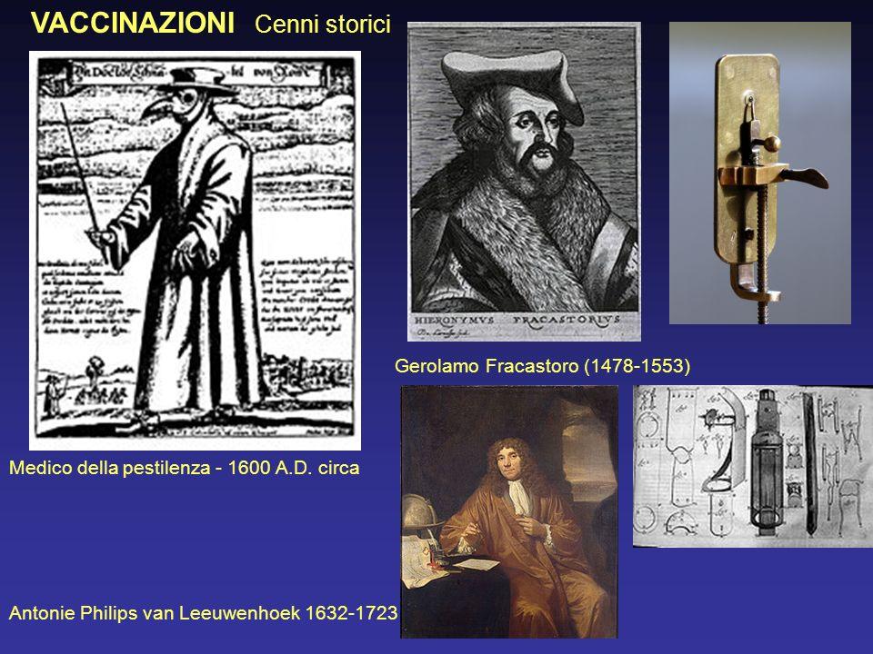 VACCINAZIONI Cenni storici