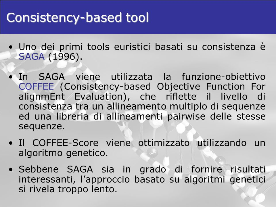 Consistency-based tool