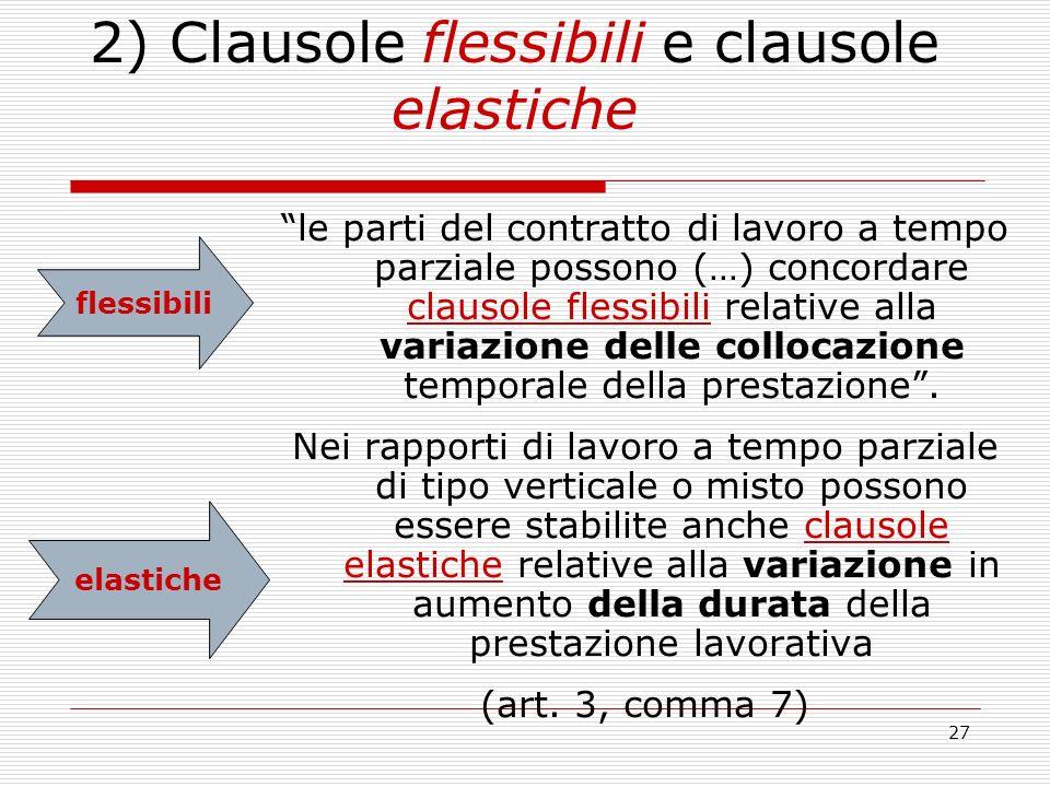 2) Clausole flessibili e clausole elastiche