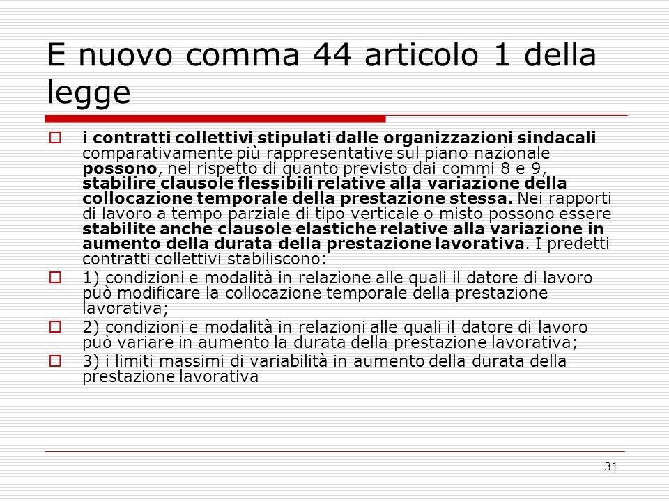 E nuovo comma 44 articolo 1 della legge