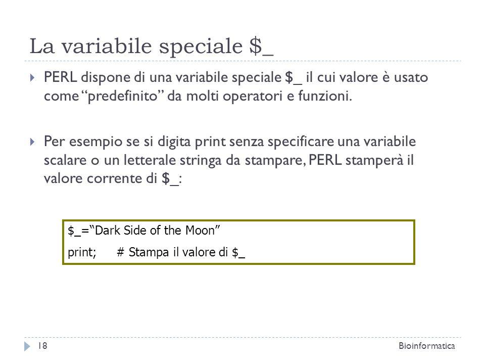 La variabile speciale $_