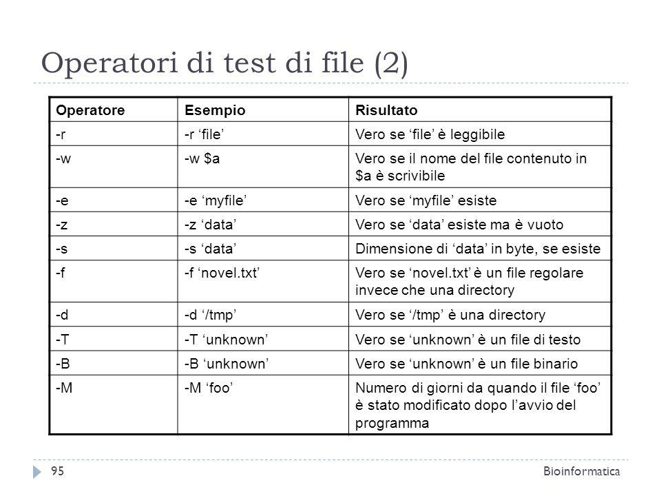 Operatori di test di file (2)