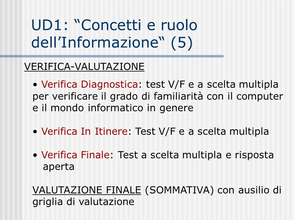 UD1: Concetti e ruolo dell'Informazione (5)