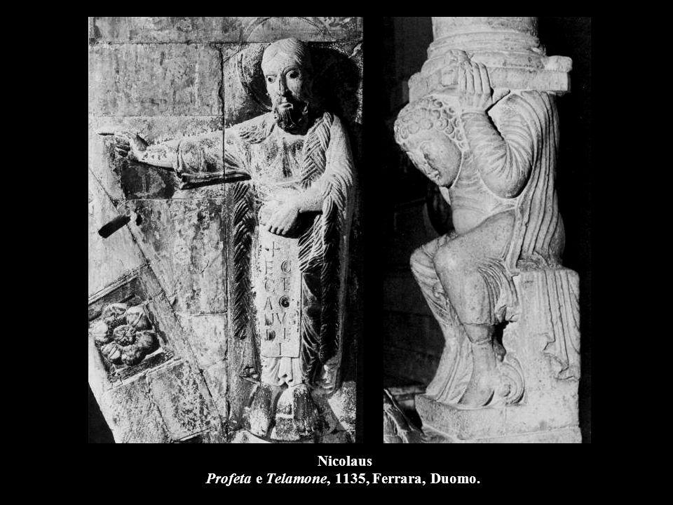 Nicolaus Profeta e Telamone, 1135, Ferrara, Duomo.
